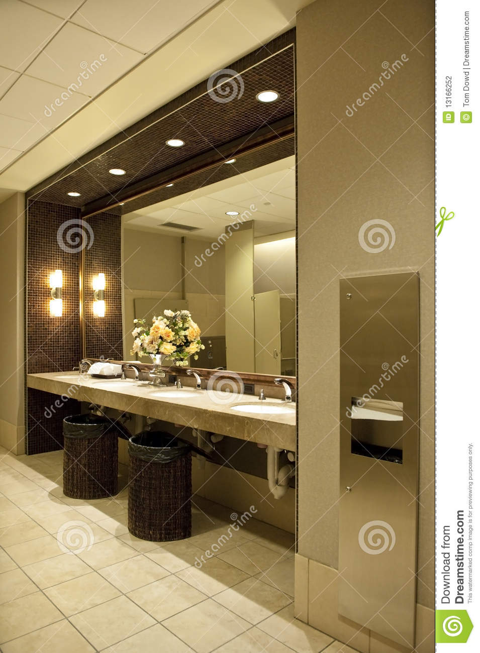 Luxurious public bathroom stock photo Image of modern