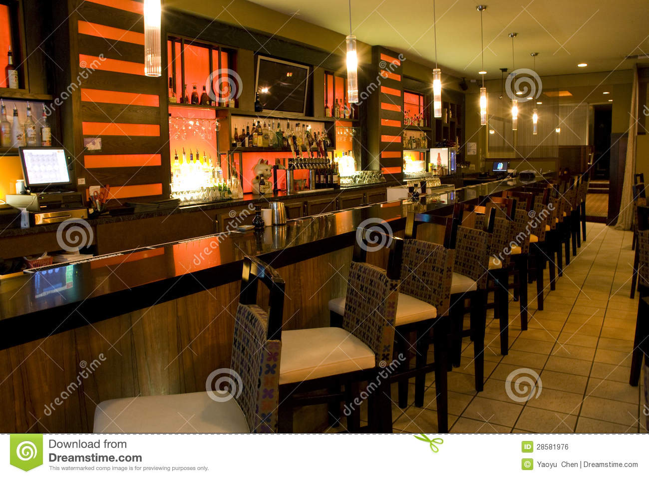Luxury Bar Restaurant Royalty Free Stock Image  Image 28581976