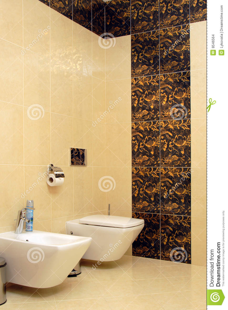 Luxury Bathroom With Toilet Sink And Bidet Stock Images  Image 8546564