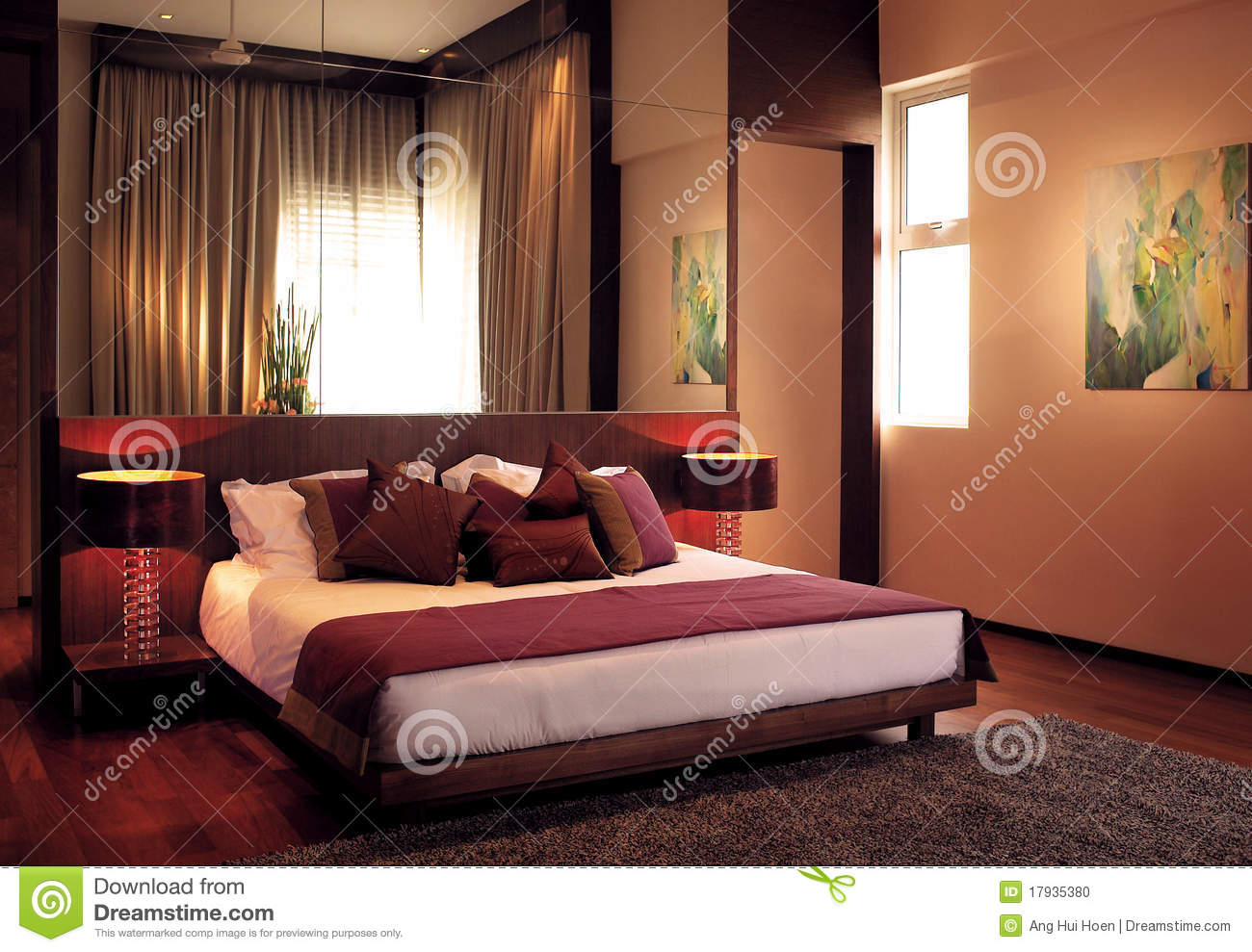 Luxury Bedroom stock photo Image of luxurious decor  17935380