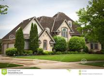 Royalty Free Photo Home with Brick