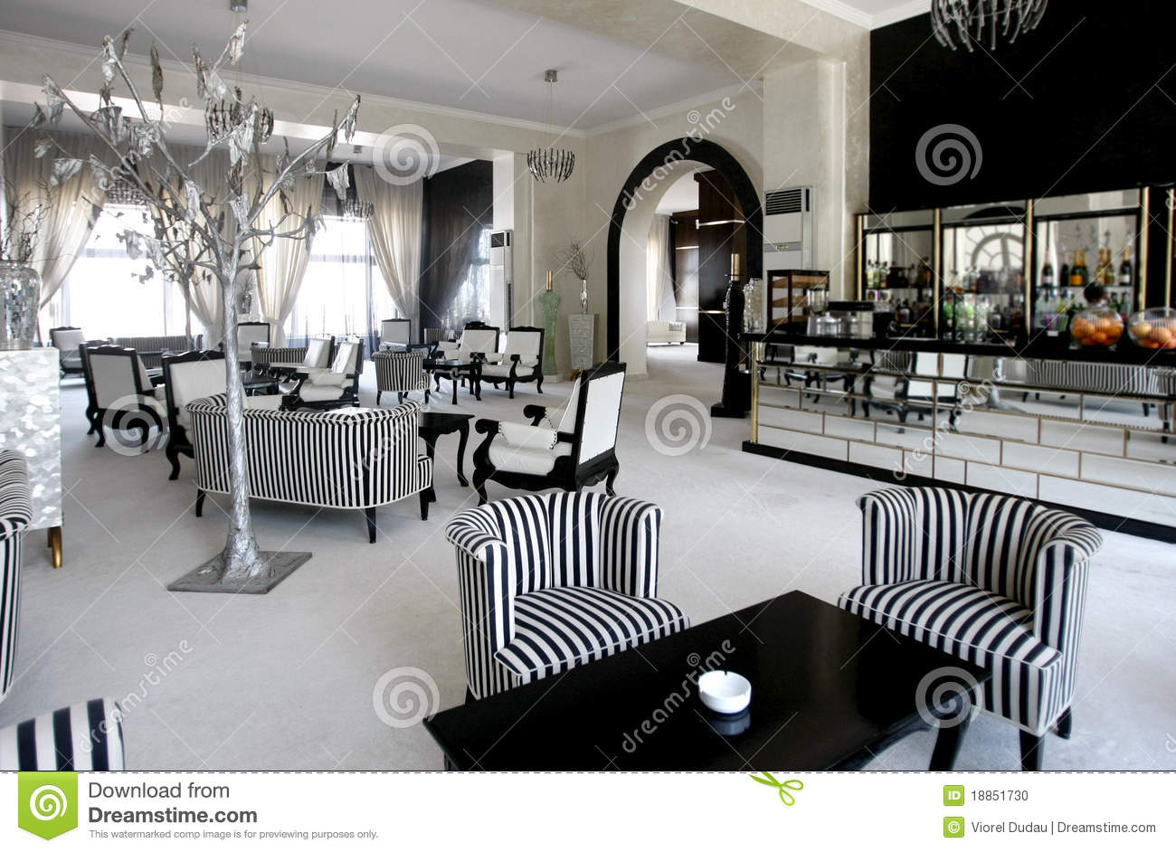 modern luxury sofa 2 seater leather gumtree cafe in expensive hotel stock photo - image: 18851730