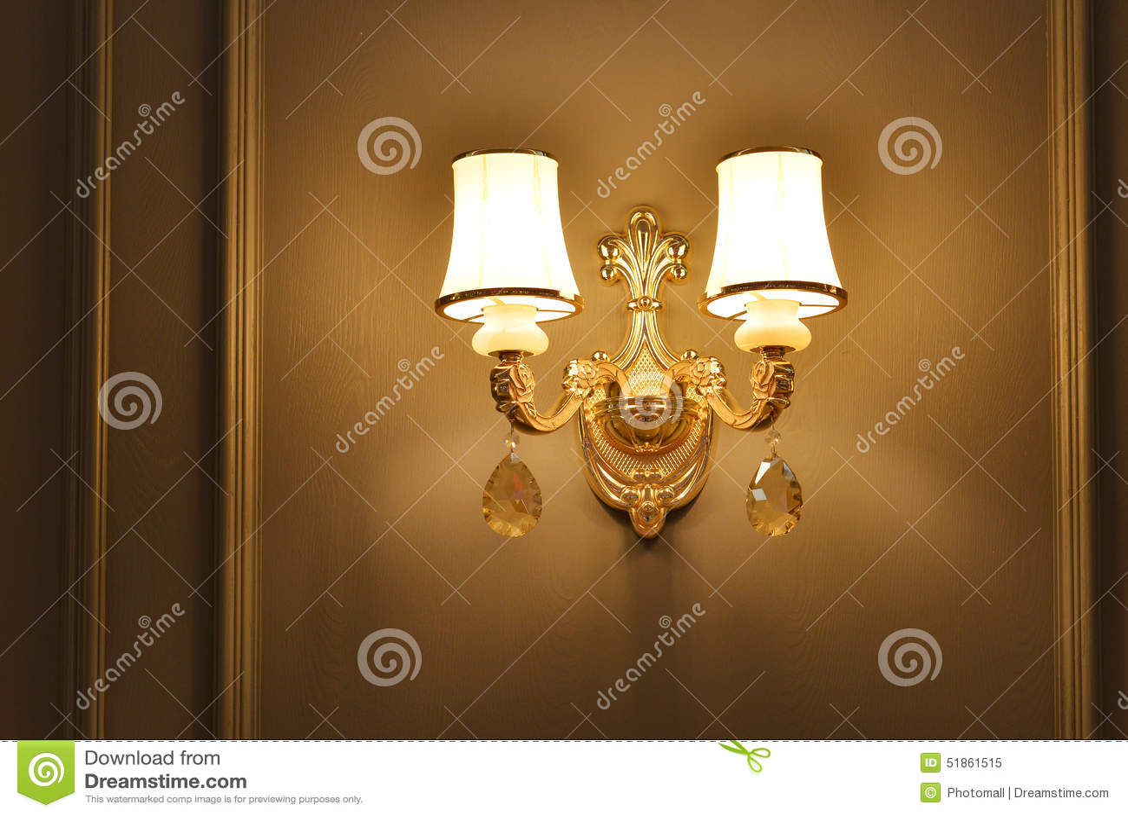 Luxury Crystal Wall Lighting Stock Image  Image 51861515