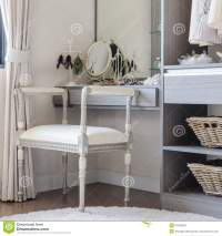 Luxury Dressing Table With Classic Chair Style Stock Image ...