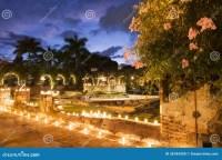 Luxury garden stock photo. Image of garden, flower, night ...