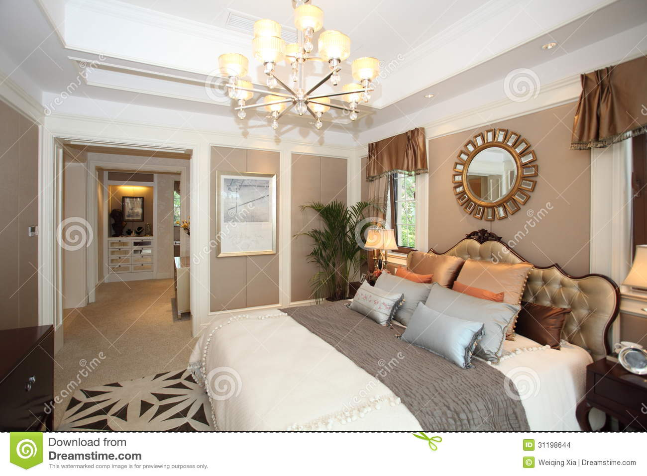 Luxury Home Bedroom Stock Images  Image 31198644