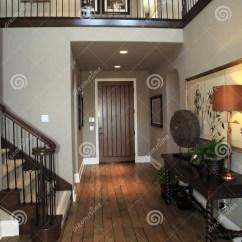 Hardwood Kitchen Floor Industrial Cabinets Luxury Home Hallway Royalty Free Stock Images - Image ...