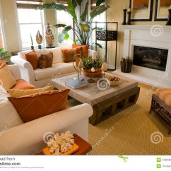 Lounge Chair Living Room Furniture Pop Ceiling Designs For In Nigeria Luxury Home Room. Stock Photo. Image Of Loft, House ...