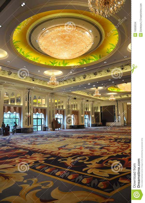 Luxury Hotel Banquet Hall Stock - 19058534