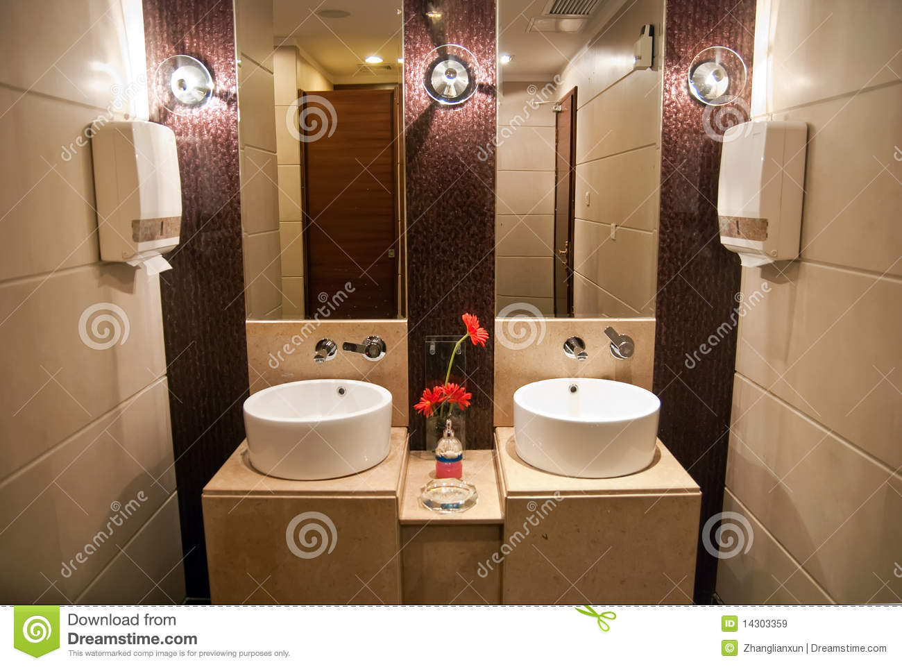 Luxury hotel public toilet stock image Image of house  14303359