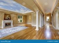 Luxury House Interior. Living Room With Column Stock Photo ...