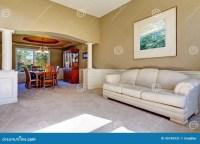 Luxury House Interior With White Columns Stock Photo ...