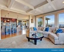 Luxury Living Room Open Floor Plan