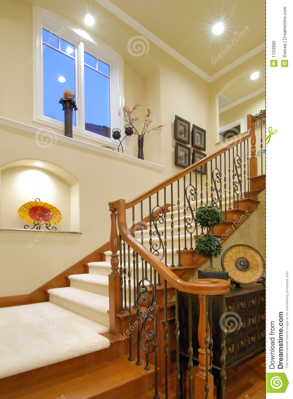 Luxury House Staircase Stock Photo Image Of Modern