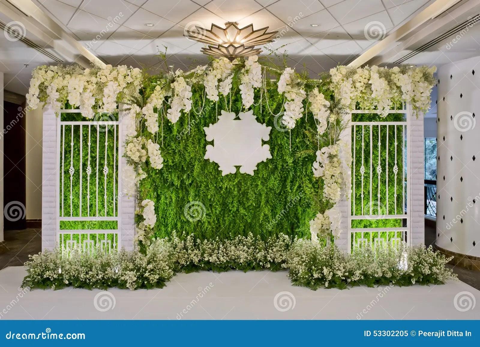 luxury indoors wedding backdrop