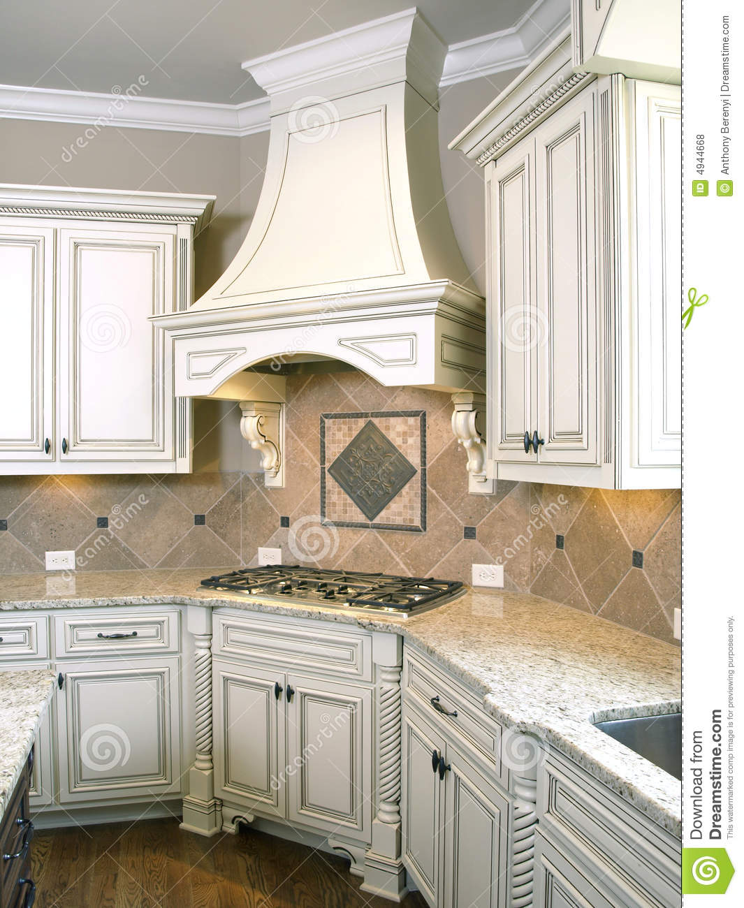 kitchen cabinet plans crocks luxury cooktop with hood stock photo - image: 4944668