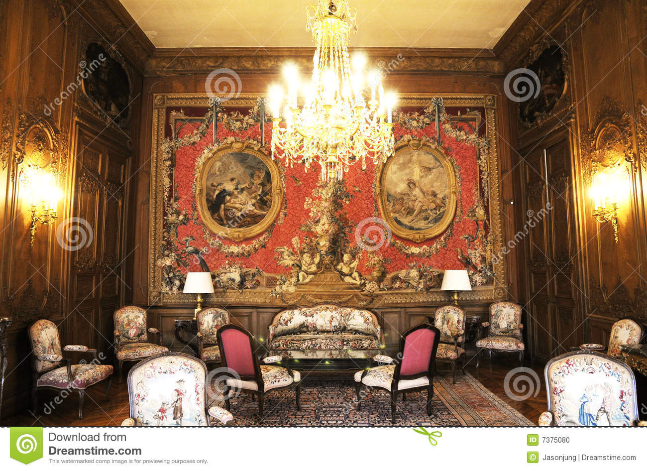 Luxury Living Room Of Middle Ages Stock Photo  Image 7375080