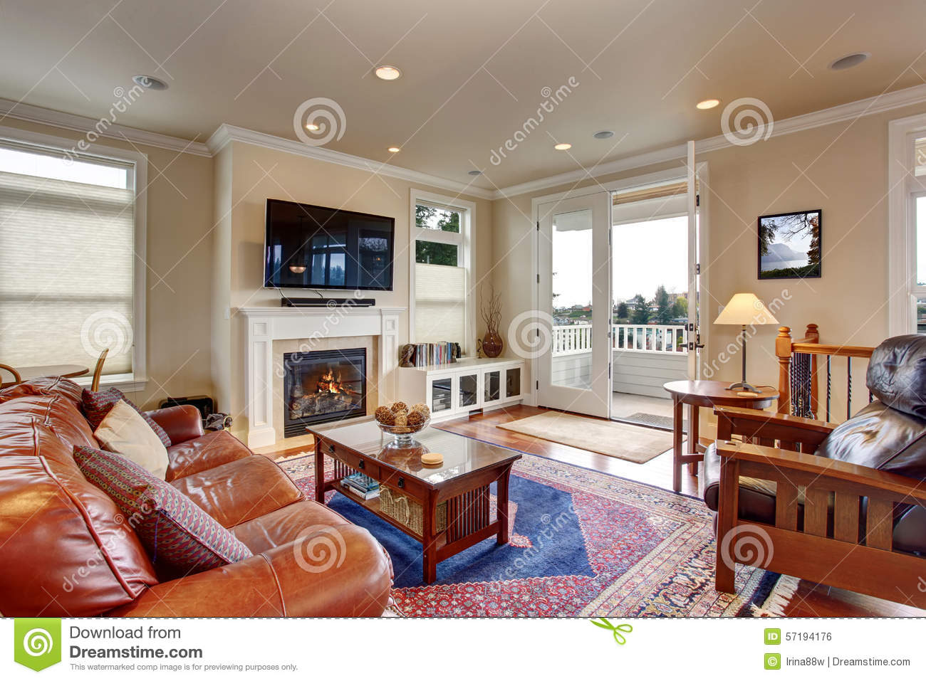 red rugs for living room decor ideas india luxury with and blue rug stock photo image of