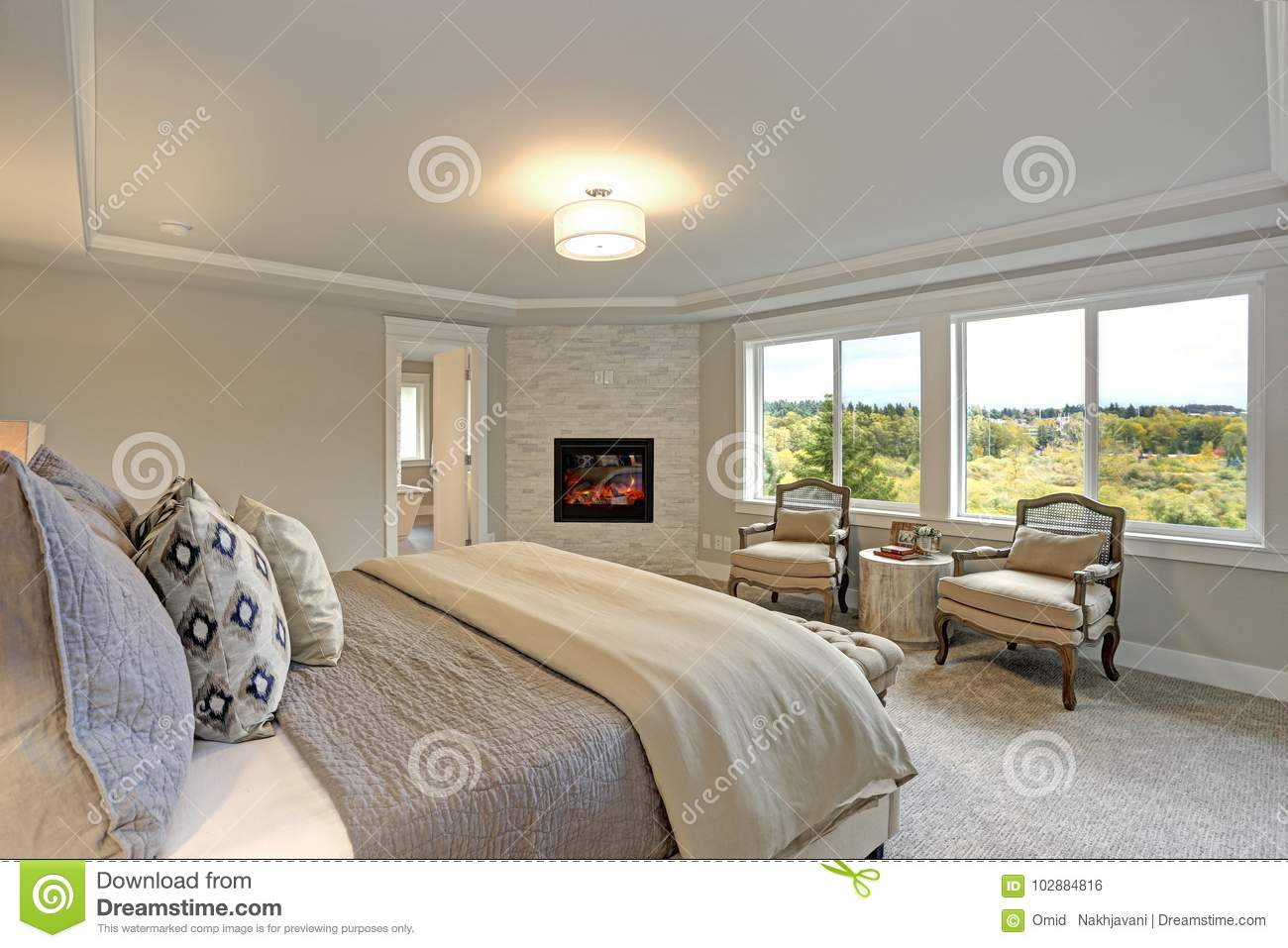 Reading Chairs For Bedroom Luxury Master Bedroom Interior Stock Photo Image Of Bedroom