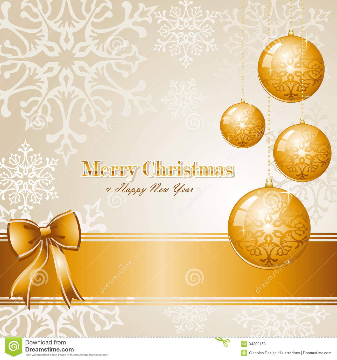 Luxury Merry Christmas Background EPS10 Vector Fil Stock