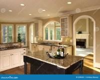 Luxury Model Home Kitchen Island Stock Image - Image: 5348461