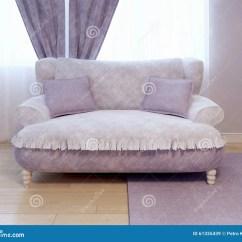 Violet Colour Sofa Simon Li Luxury Single In Empty Room Stock Illustration