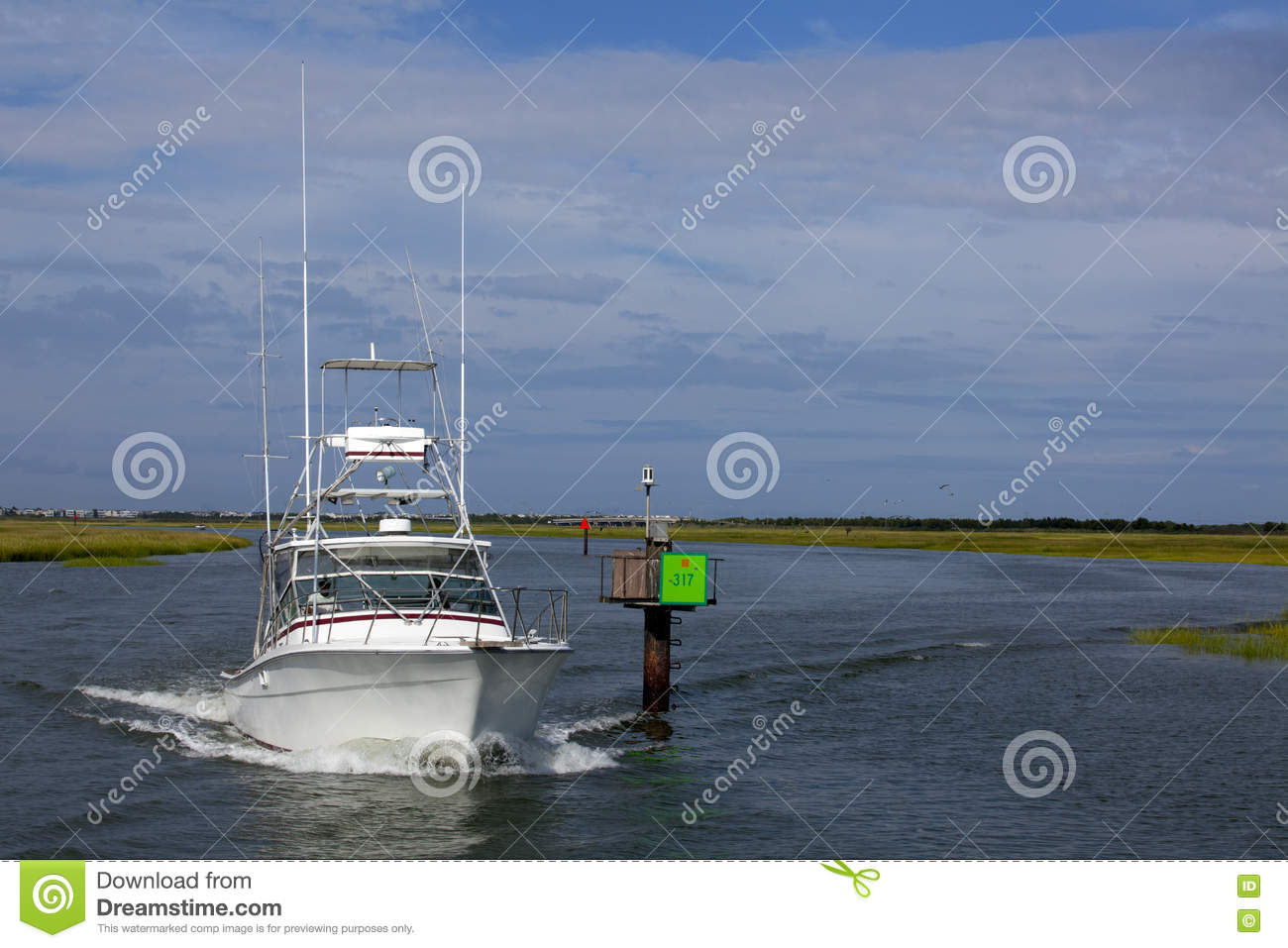 fishing chair crane covers at home tuna tower of sport boat stock photography