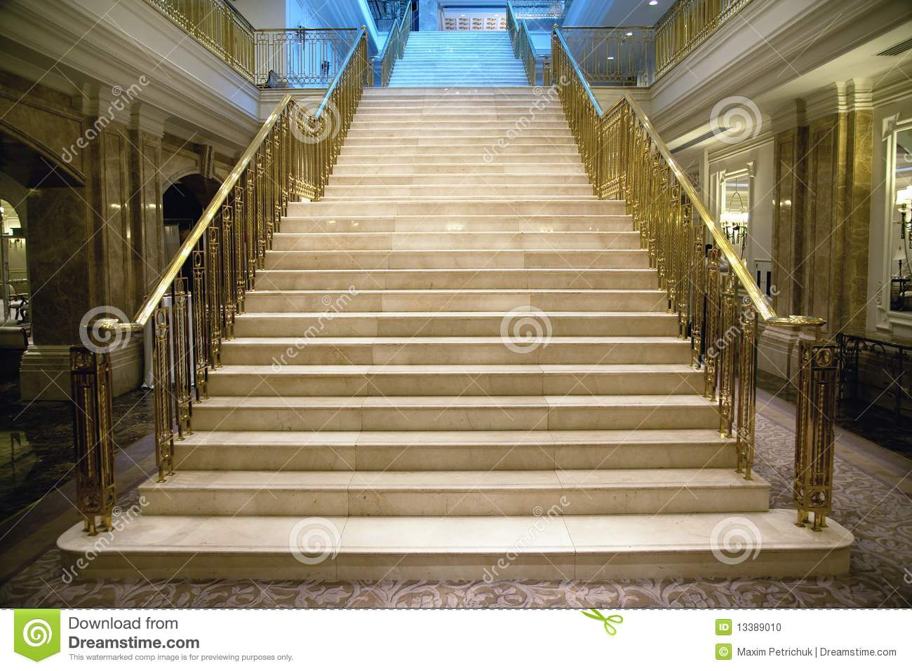 Luxury Staircase Stock Photo Image 13389010