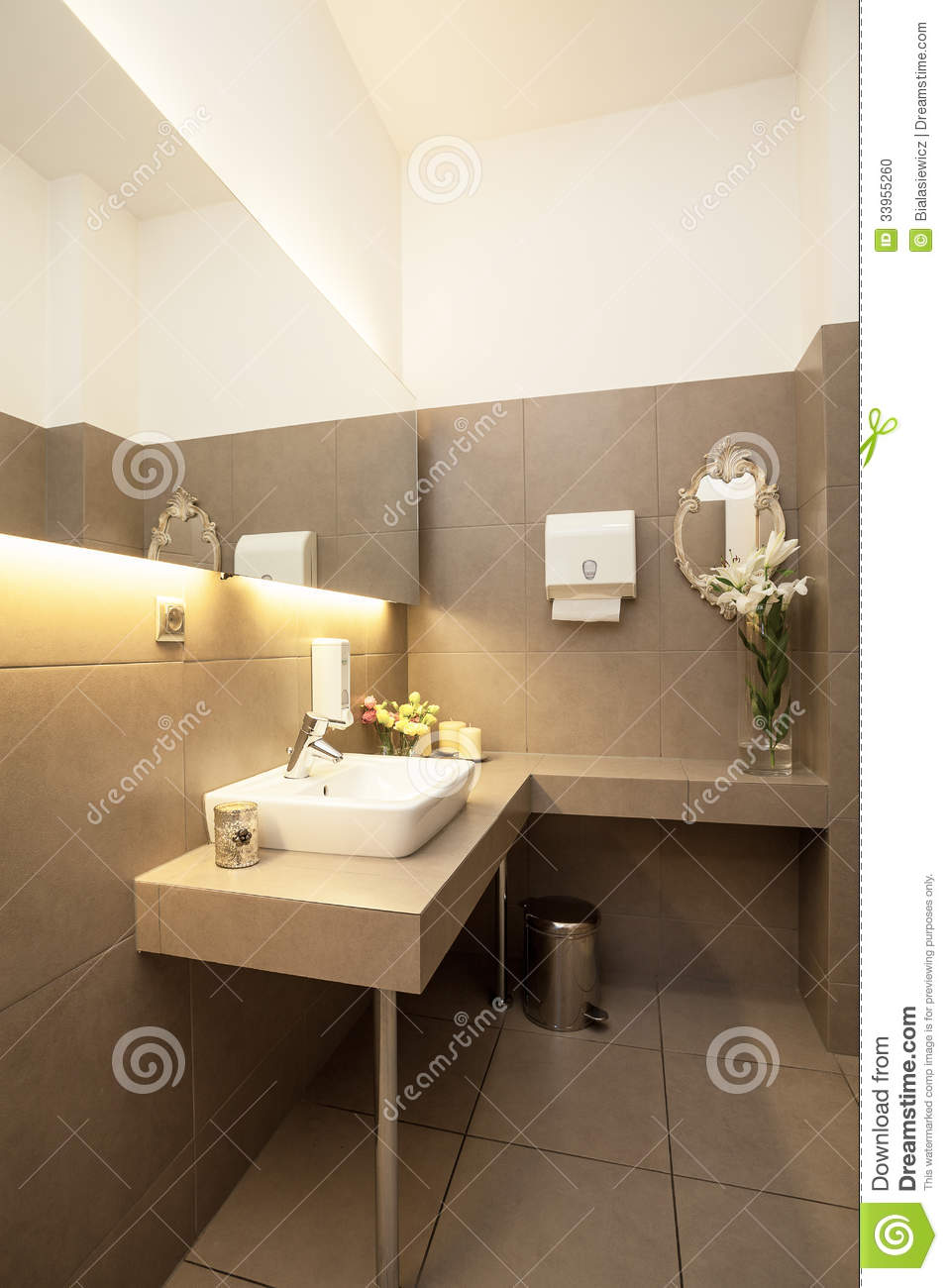 Luxury toilet interior stock photo Image of faucet