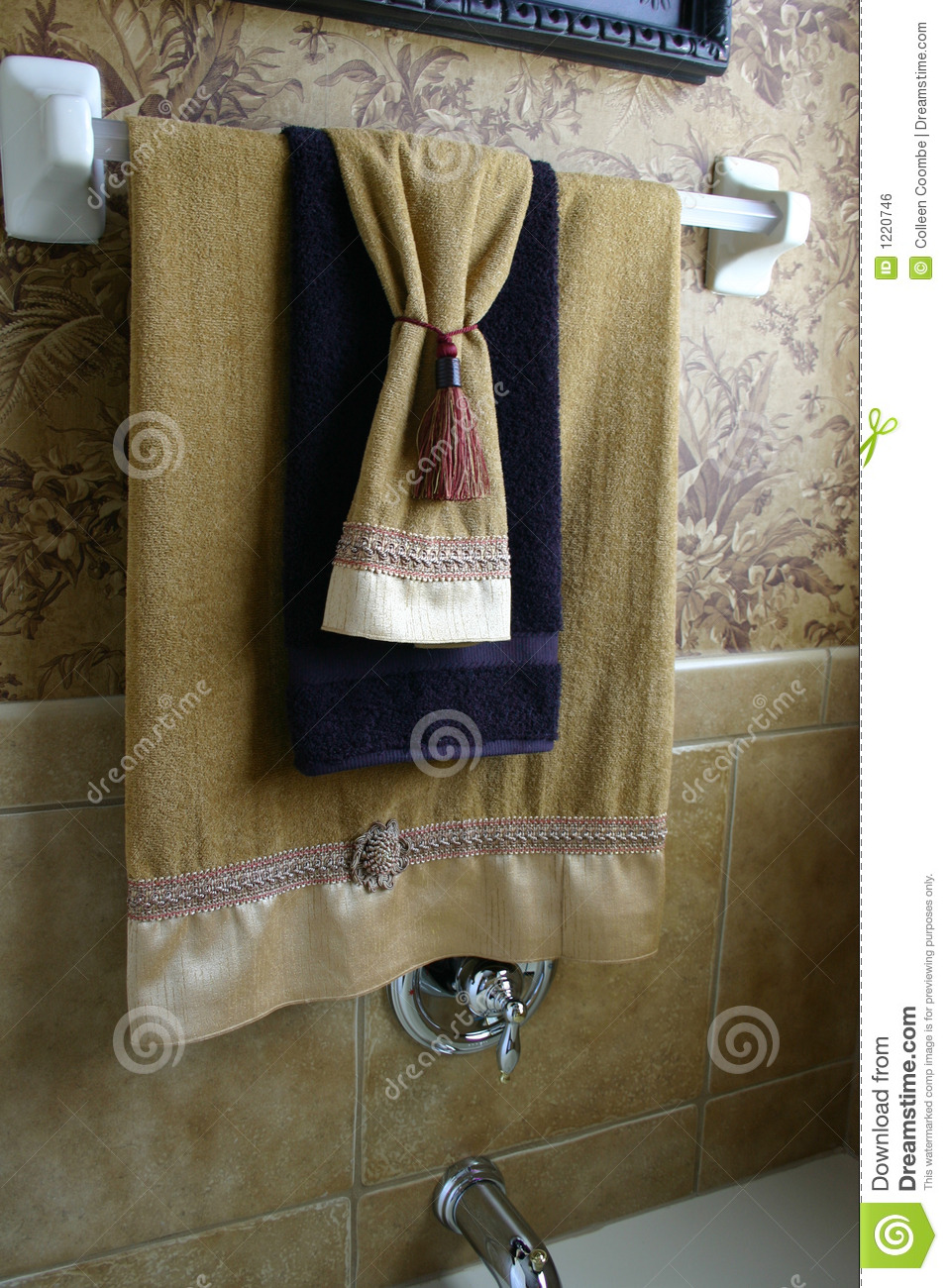 Luxury Towels stock photo Image of wallpaper hanging