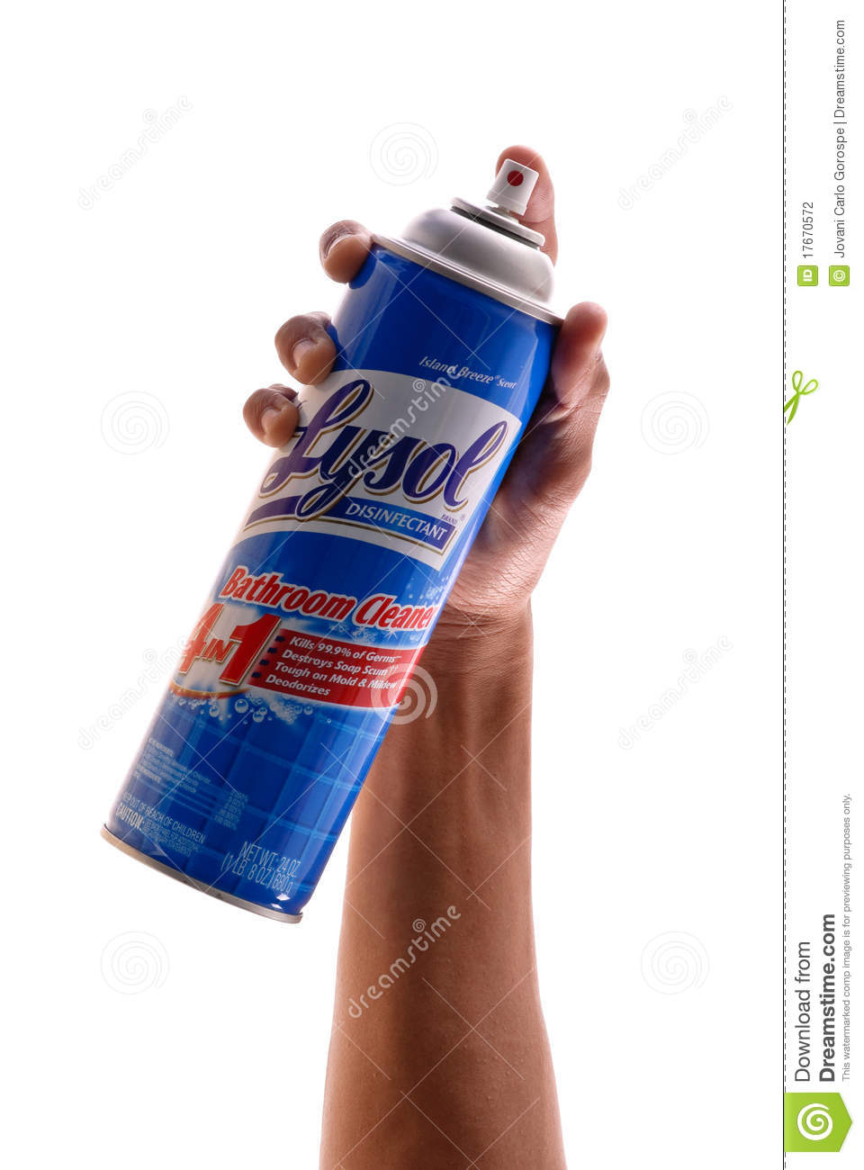 Lysol Disinfectant editorial photography Image of male