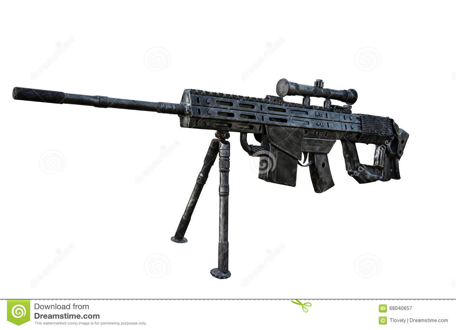 M16 Gun Model Isolate Background Stock Image