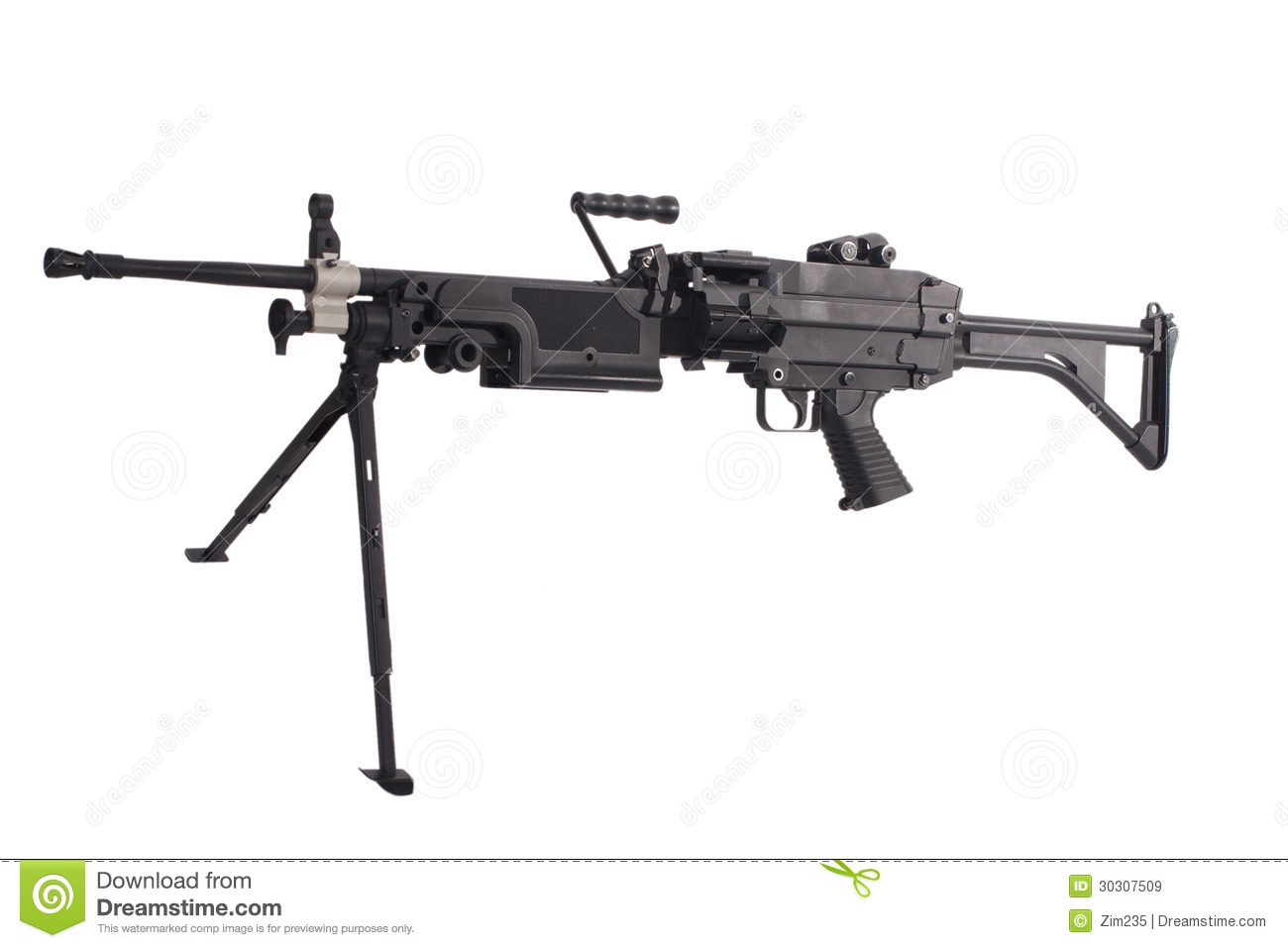 M249 Us Army Machine Gun Stock Image Image Of Magazine