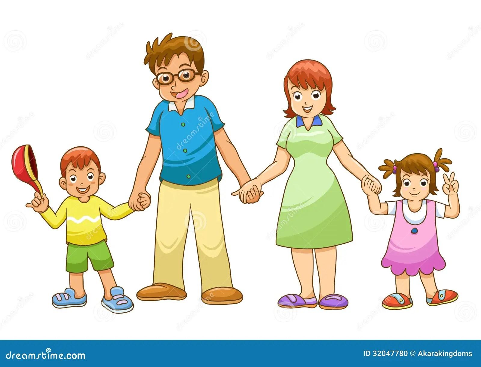 Ma Famille Tenant La Main Illustration De Vecteur