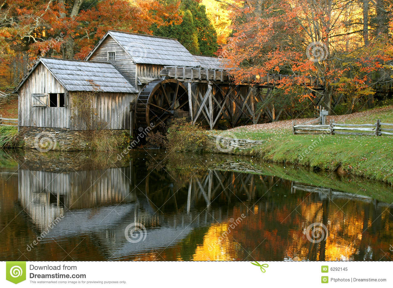 Fall In The Smoky Mountains Wallpaper Mabry Mill Blue Ridge Parkway Virginia In Autumn Royalty