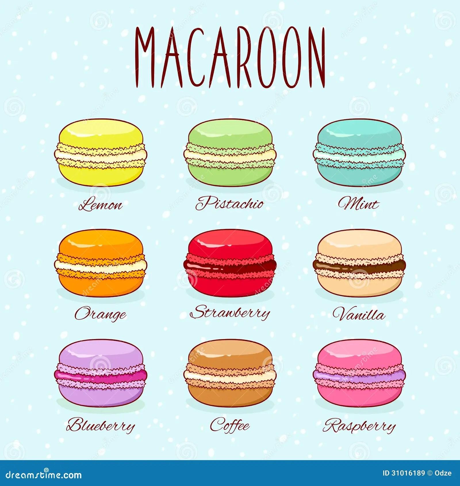 Cute Macaroons Wallpaper Macaroons Stock Vector Illustration Of Orange Cookies