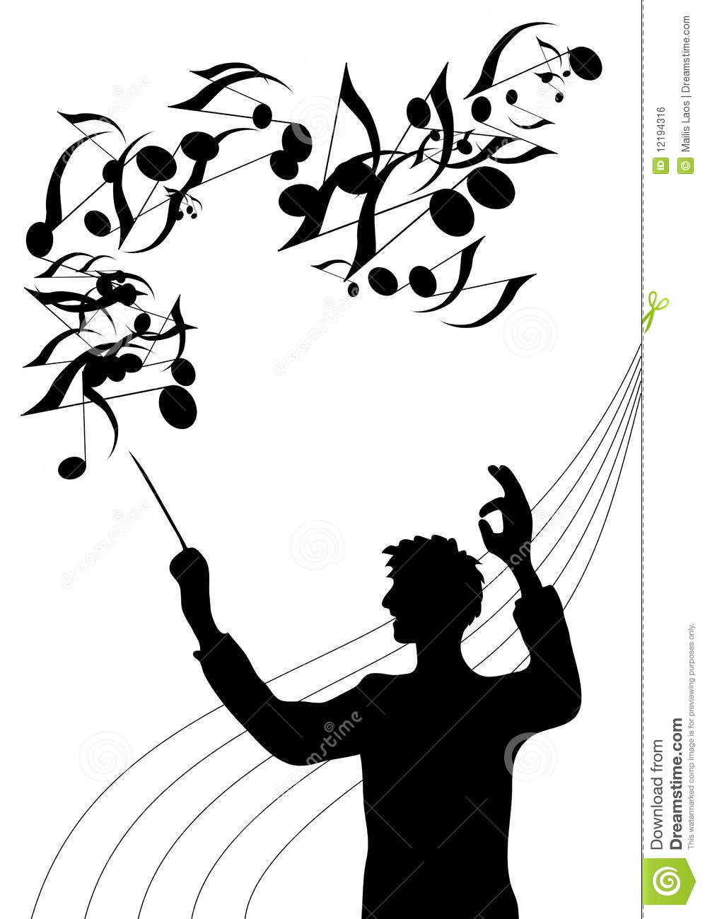 Maestro stock vector. Image of manager, people, stick
