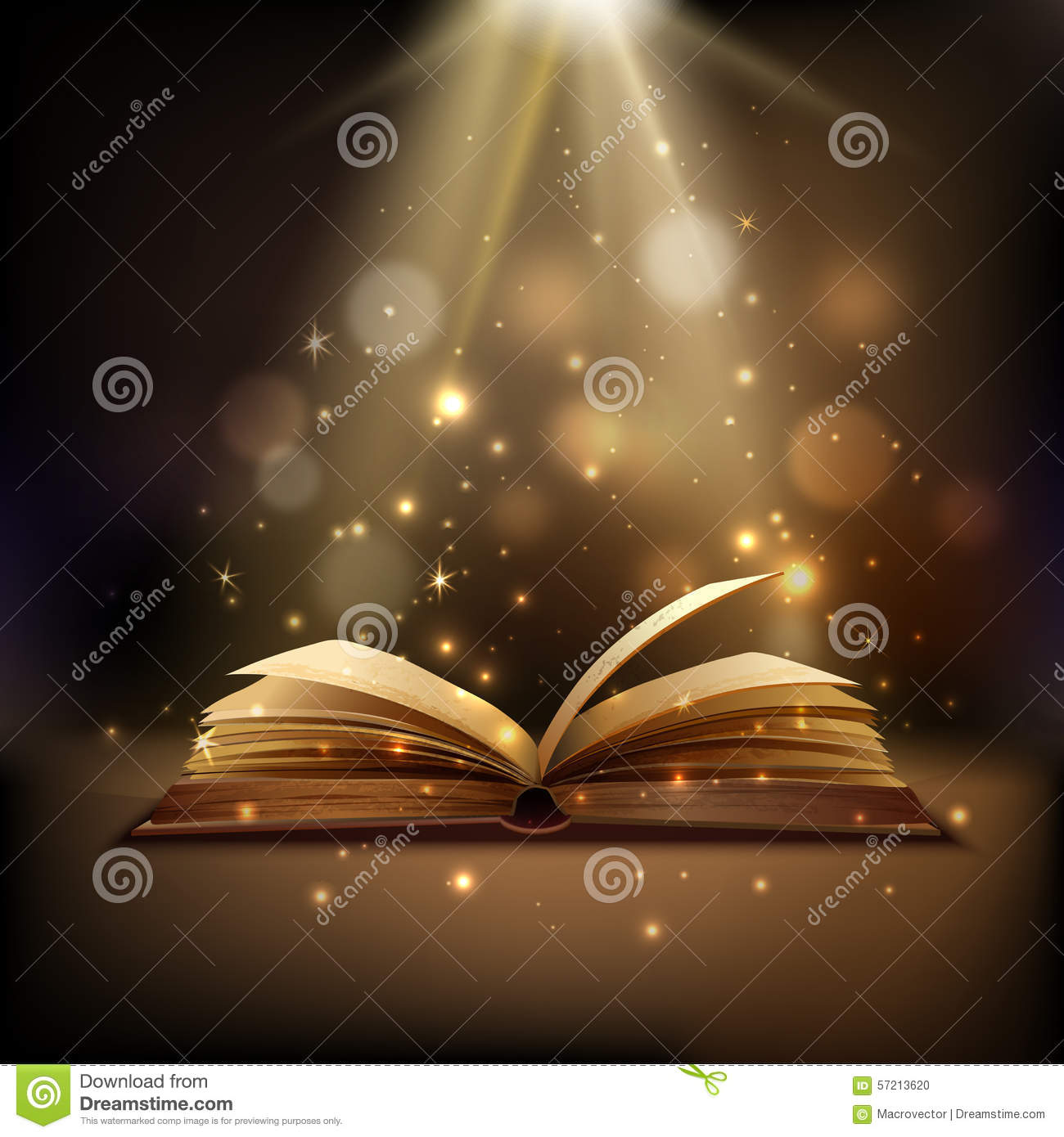 Magic Book Background Stock Vector Image 57213620