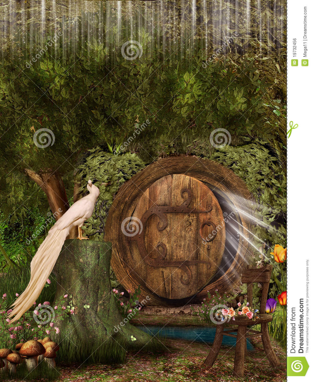 Magic door stock illustration Image of beautiful