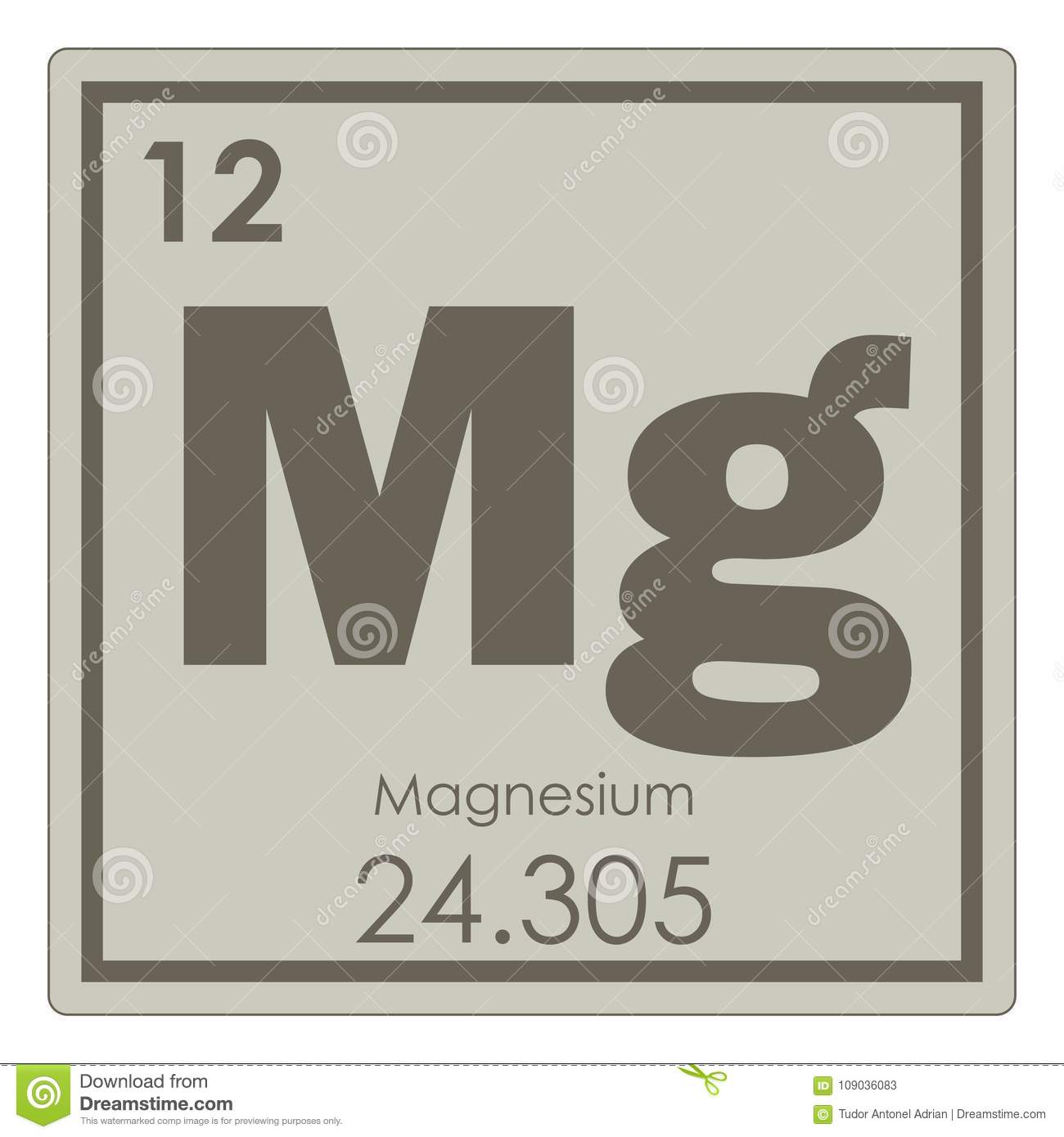 hight resolution of magnesium chemical element