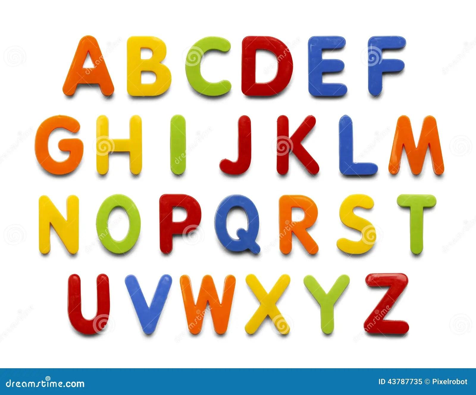 Magnet Alphabet Stock Photo