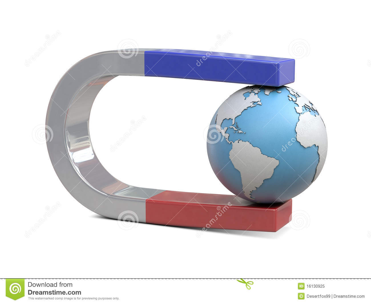 Magnet And Earth Royalty Free Stock Photo