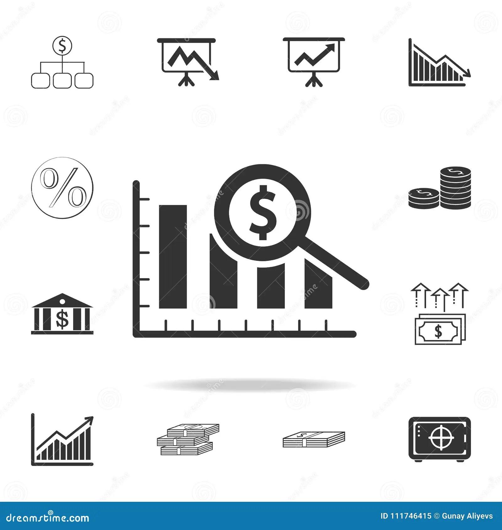 Success Financial Bar Graph With Rising Arrow Royalty Free