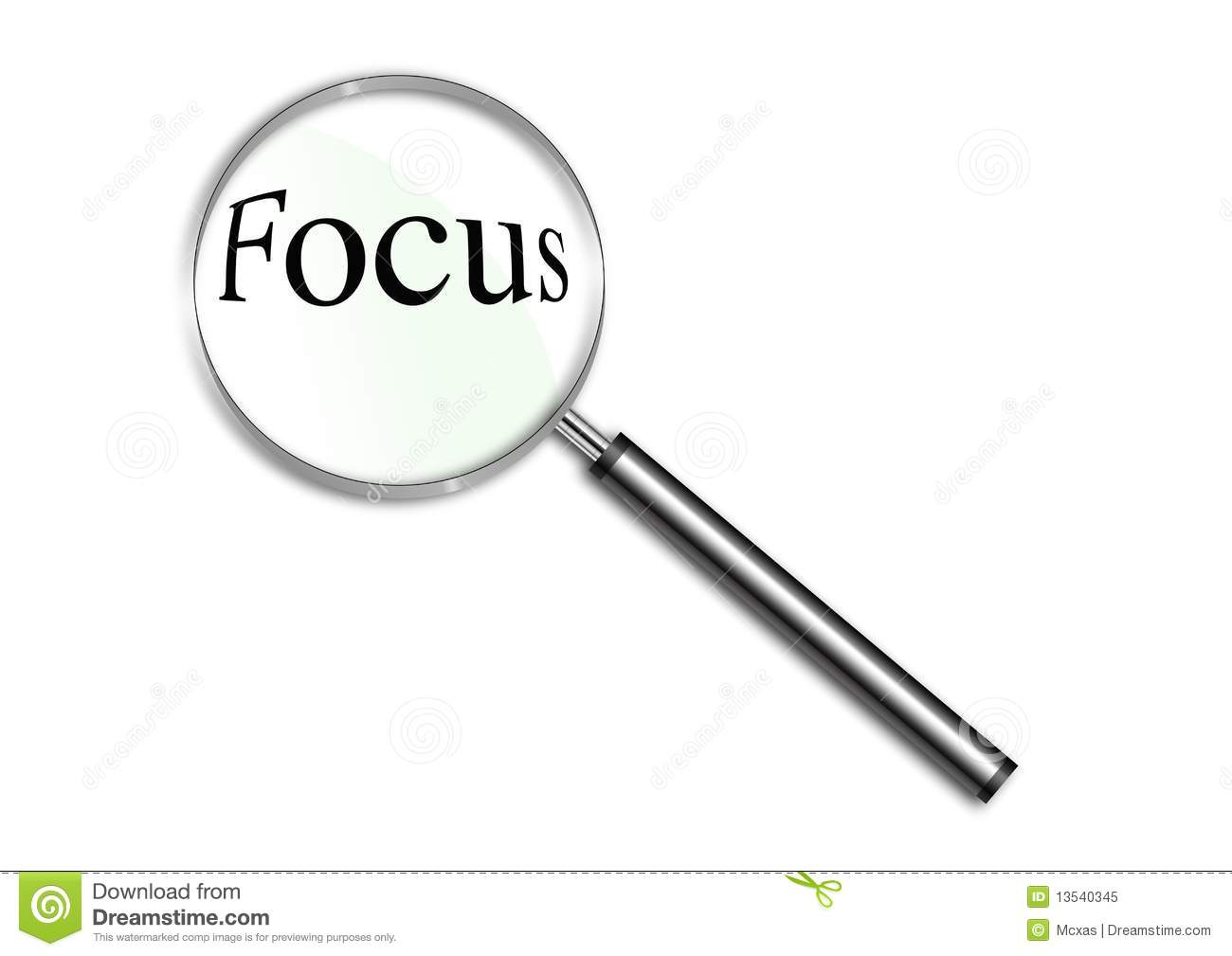 Magnifying Glass Over The Word Focus Royalty Free Stock