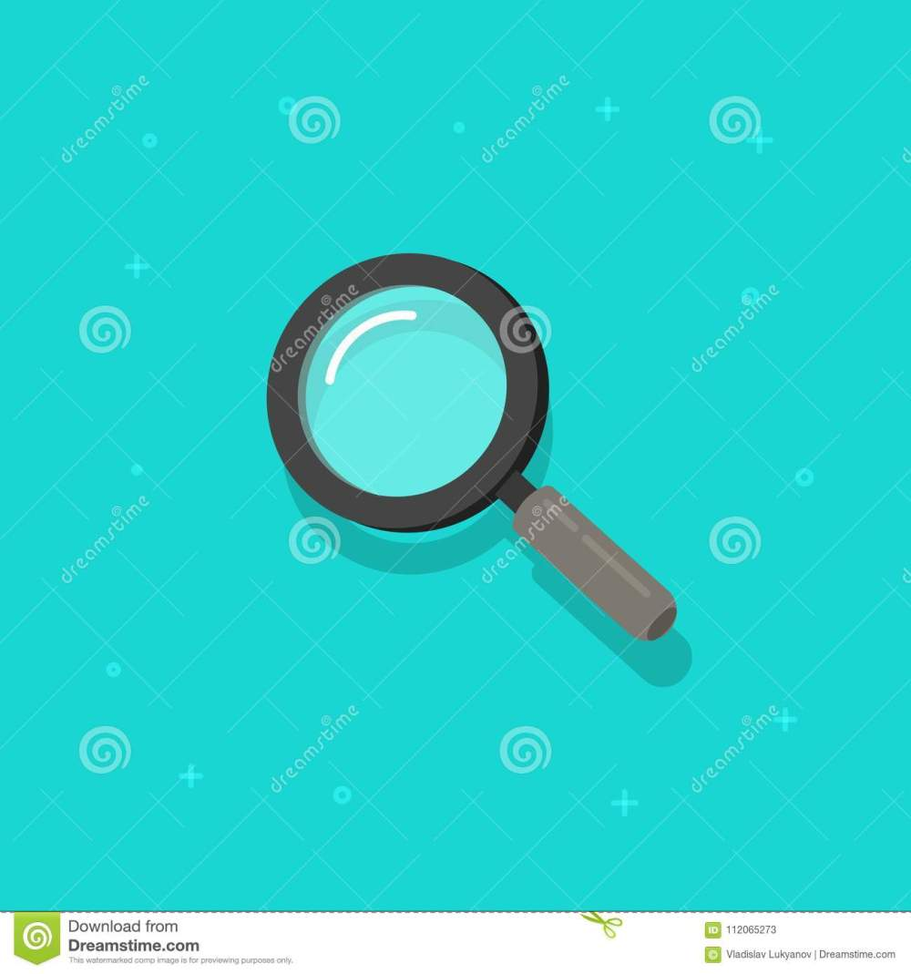 medium resolution of magnifying glass vector icon flat cartoon magnifier or loupe symbol isolated clipart