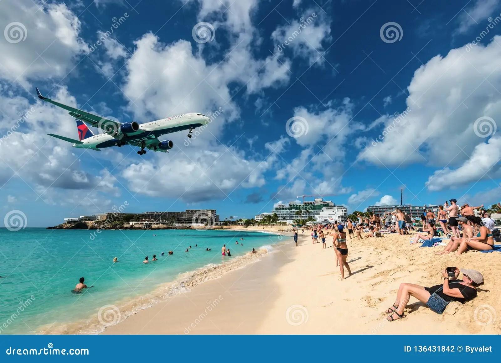 maho beach in st