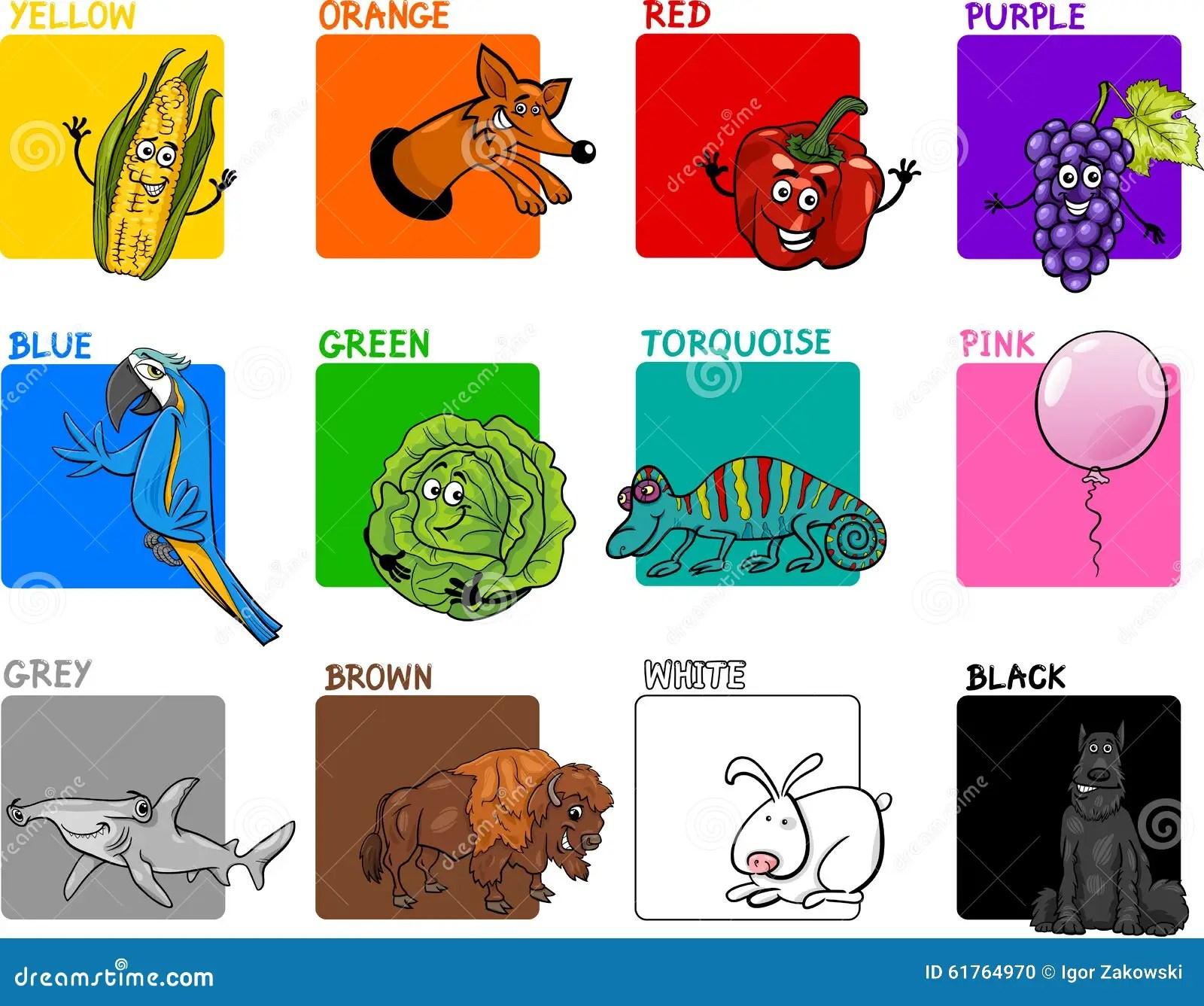 Main Colors Cartoon Collection Stock Vector