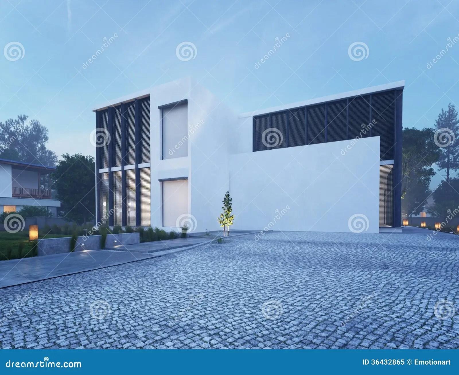 Eclairage Exterieur Maison Contemporaine Photo Maison Moderne