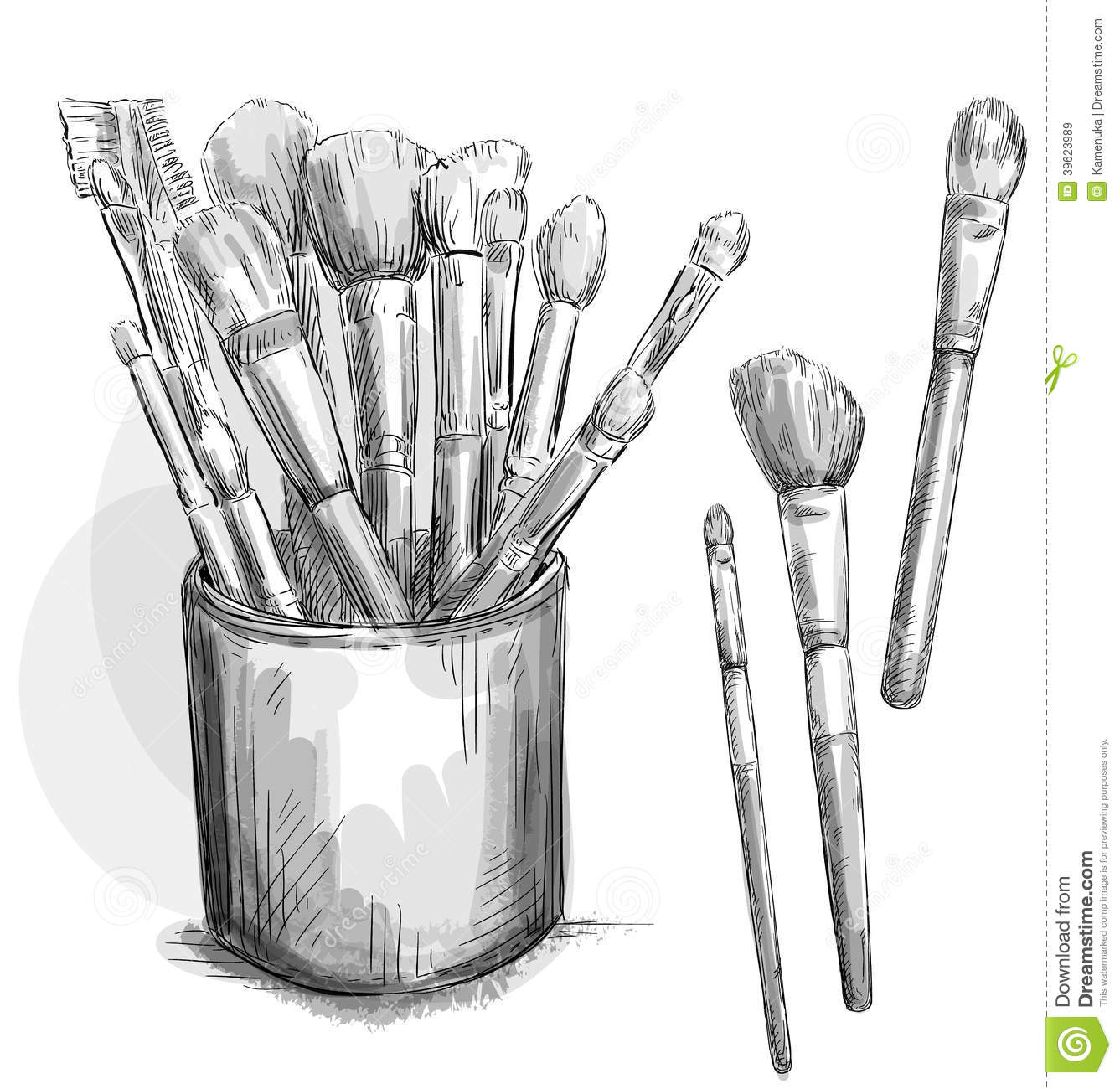 Make Up Brushes Collection. Makeup Case. Fashion I Cartoon