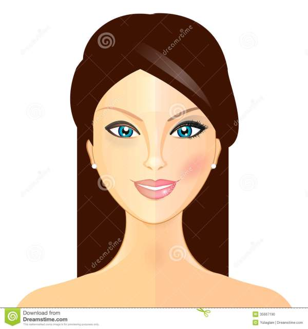 Makeover - Illustration Of Woman And Stock Vector Change Face